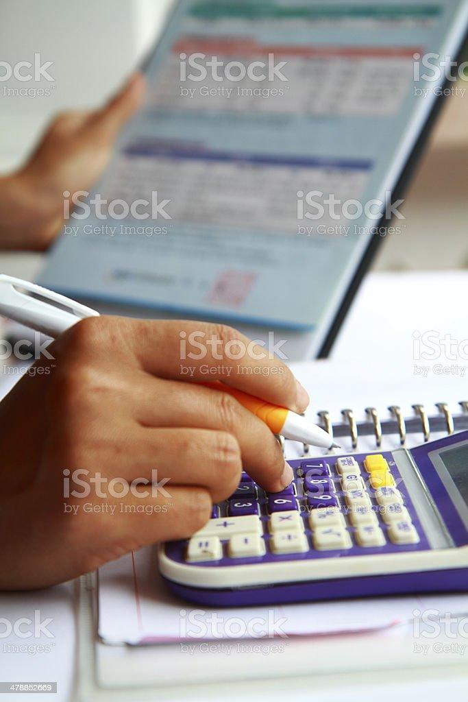 Business Konzept hand analysieren finanzielle Daten Lizenzfreies stock-foto