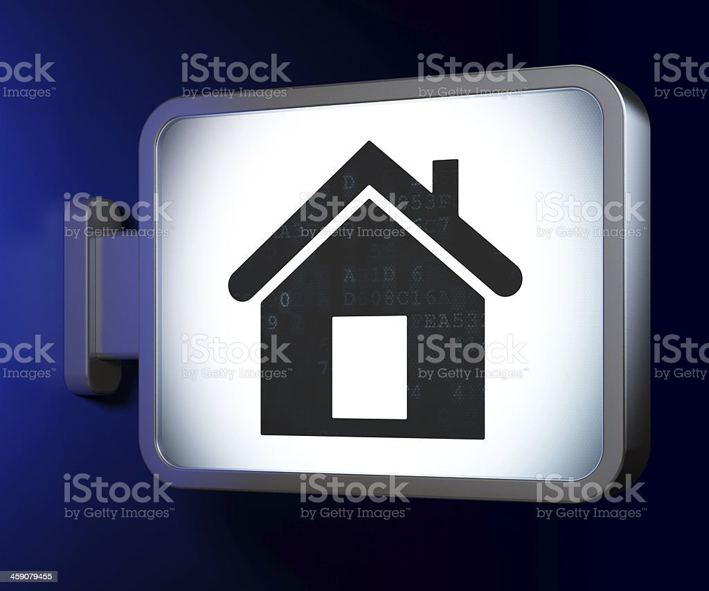 Business concept: Home on billboard background royalty-free stock photo