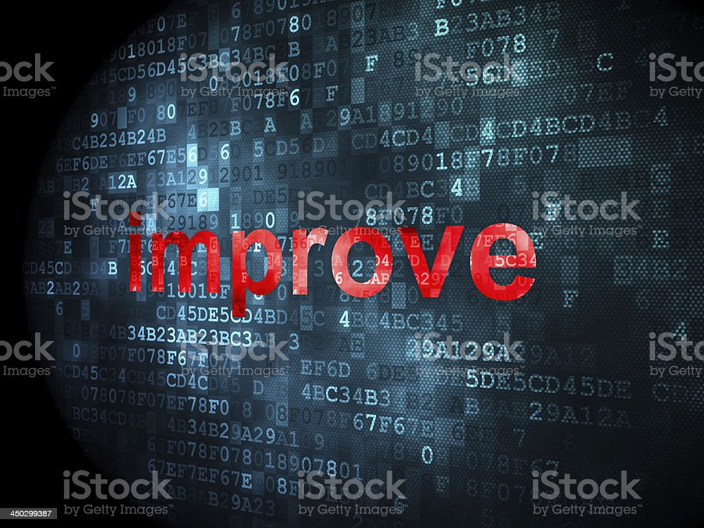 business concept: improve on digital background royalty-free stock photo