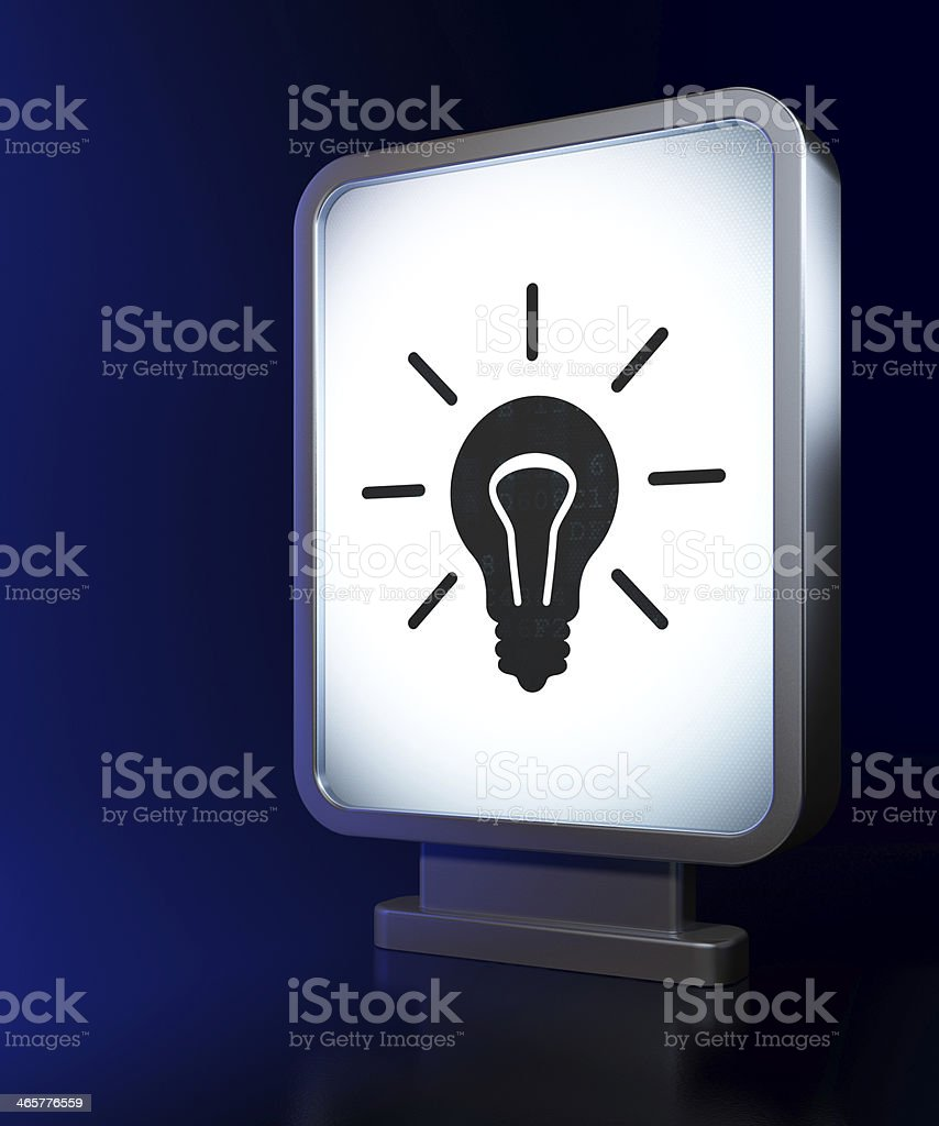 Business concept: Light Bulb on billboard background royalty-free stock photo