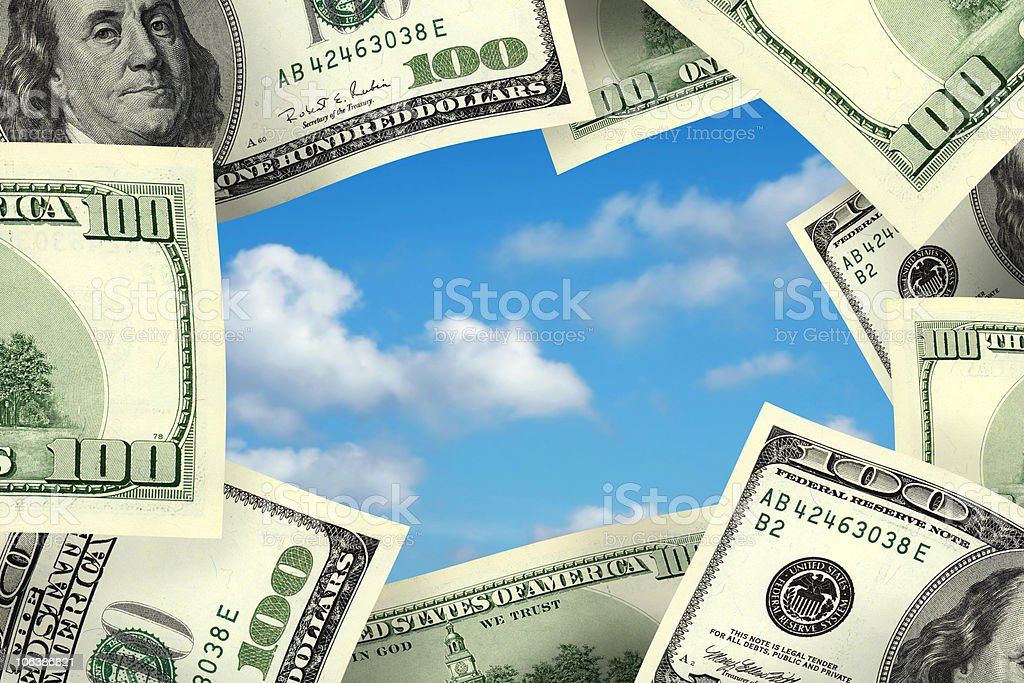 business concept money frame stock photo