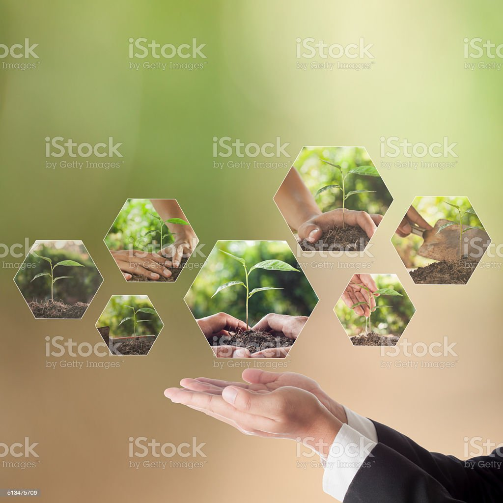 Business concept of CSR or Corporate Social Responsibility, stock photo