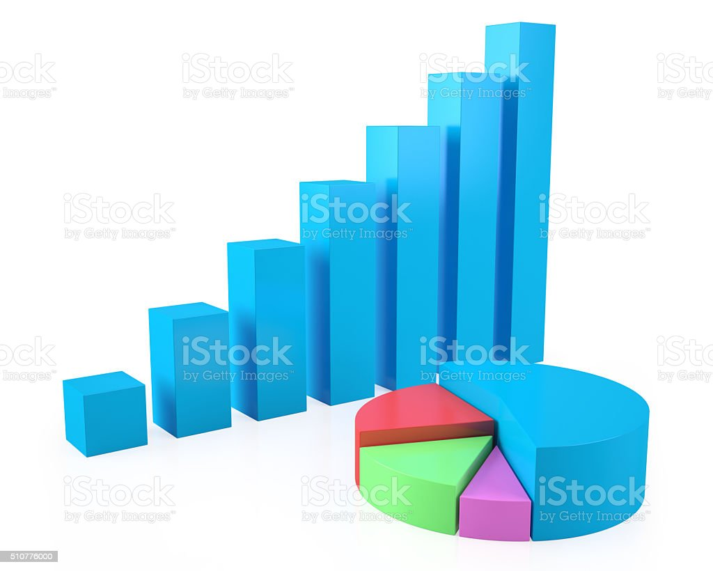 Business concept of growth, success, colorful pie chart. stock photo