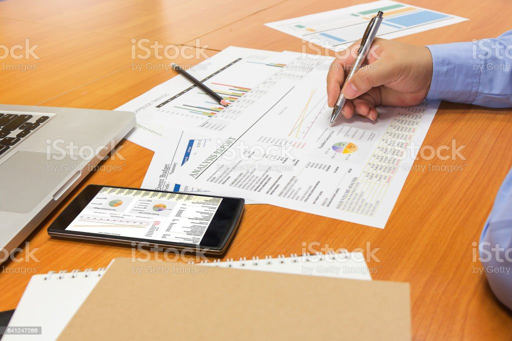 Business concept of office working stock photo
