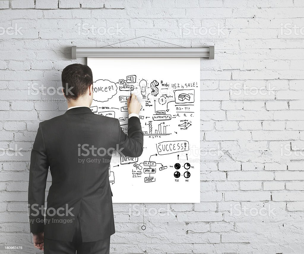 business concept on poster royalty-free stock photo