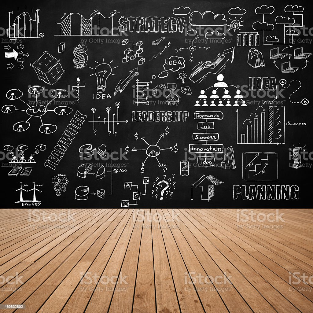 Business concept on wall stock photo