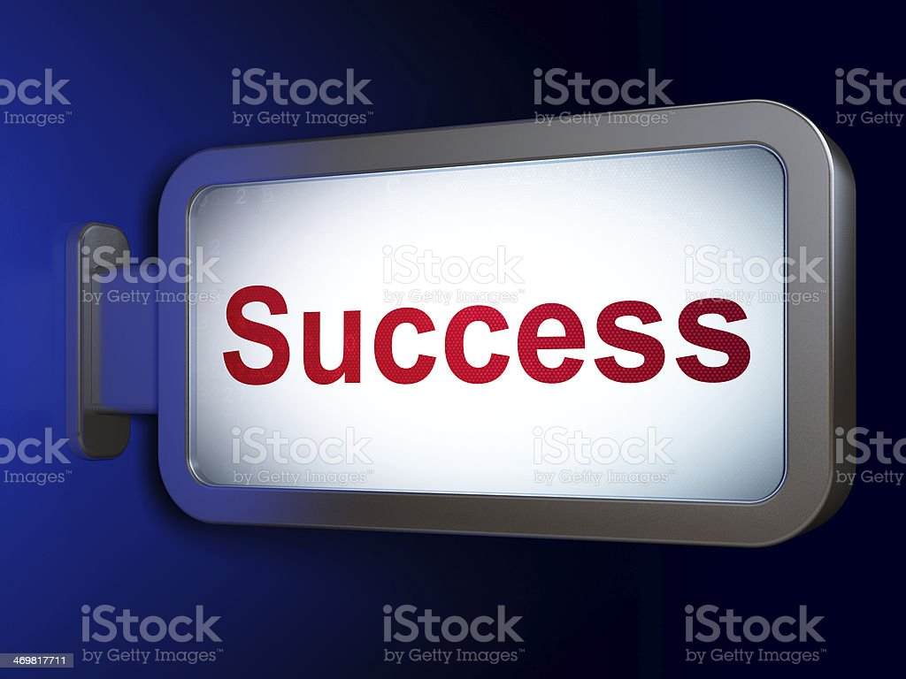 Business concept: Success on billboard background royalty-free stock photo