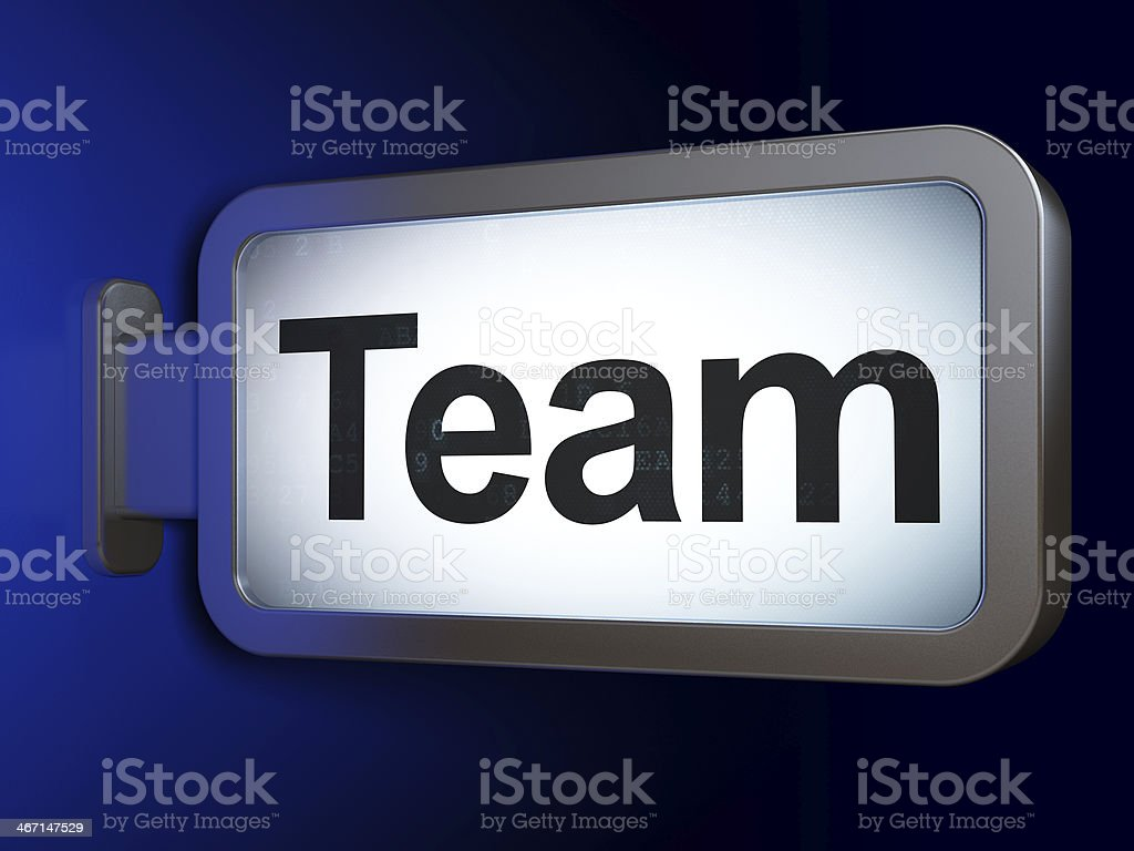 Business concept: Team on billboard background royalty-free stock photo