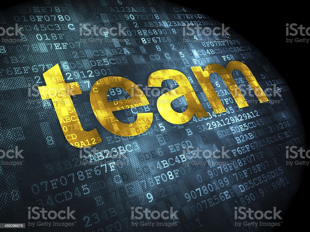 business concept: Team on digital background royalty-free stock photo