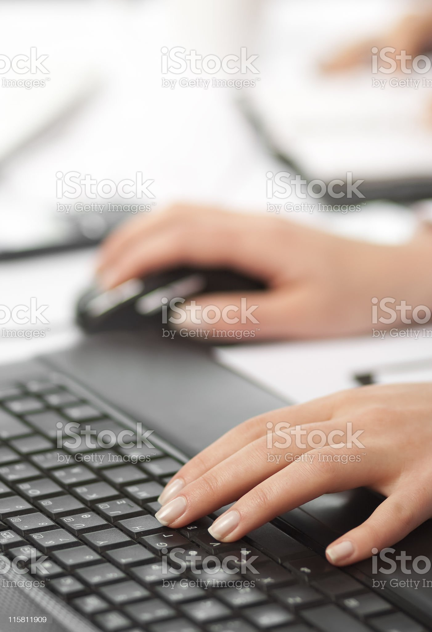 Business concept typing on keyboard royalty-free stock photo