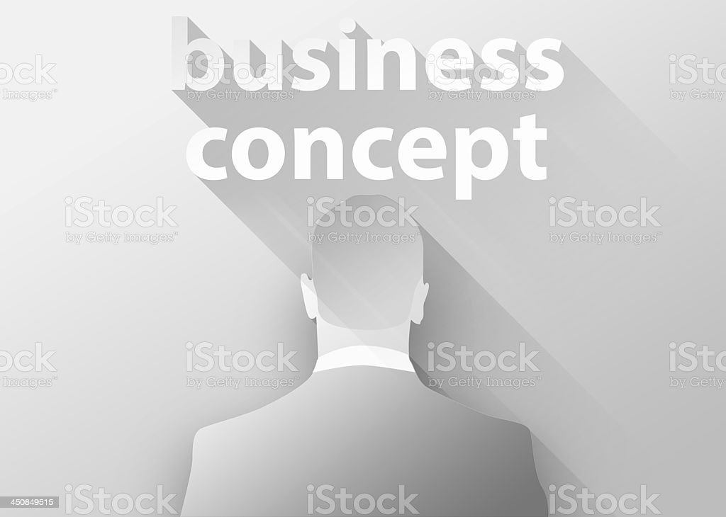 Business concept with businessman 3d illustration flat design royalty-free stock photo