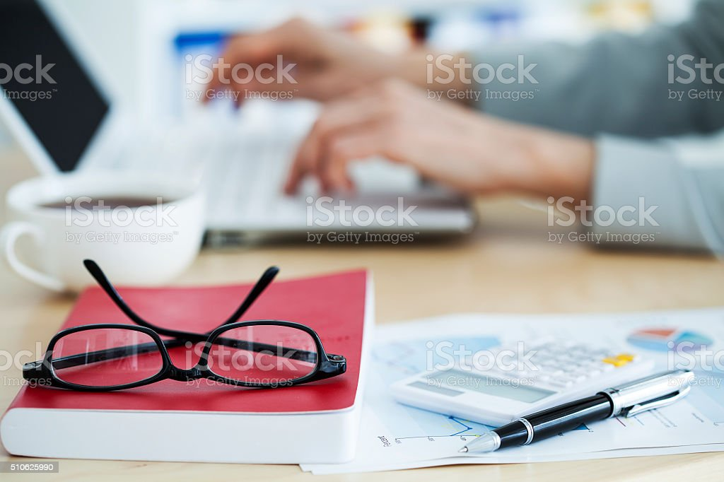 Business concept, working in office stock photo