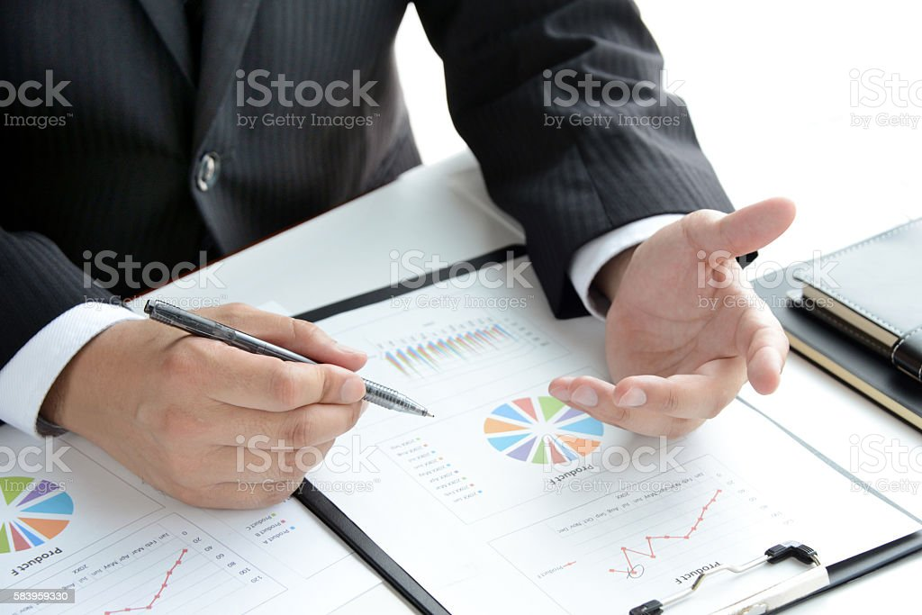 Business concepts, consulting, meeting stock photo