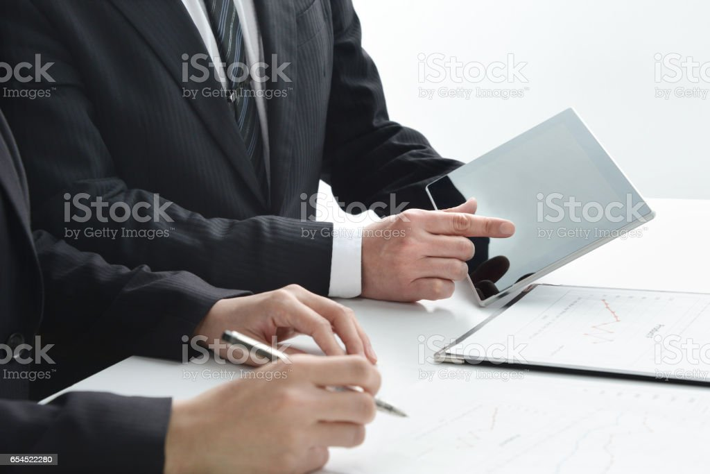 Business concepts, meeting stock photo