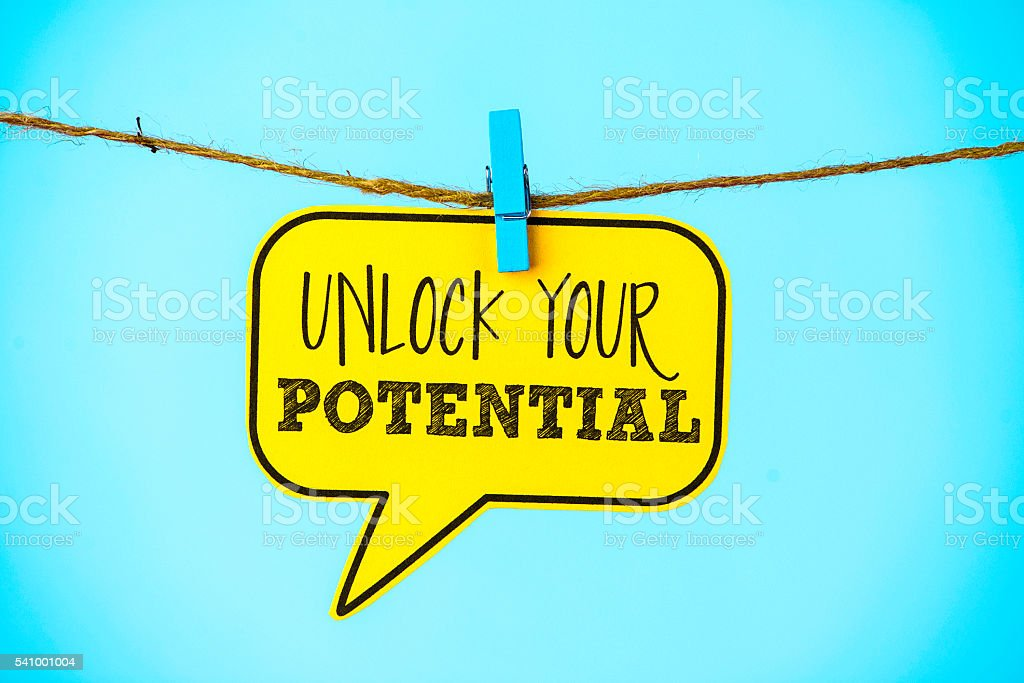 Business concepts. Unlock your potential stock photo