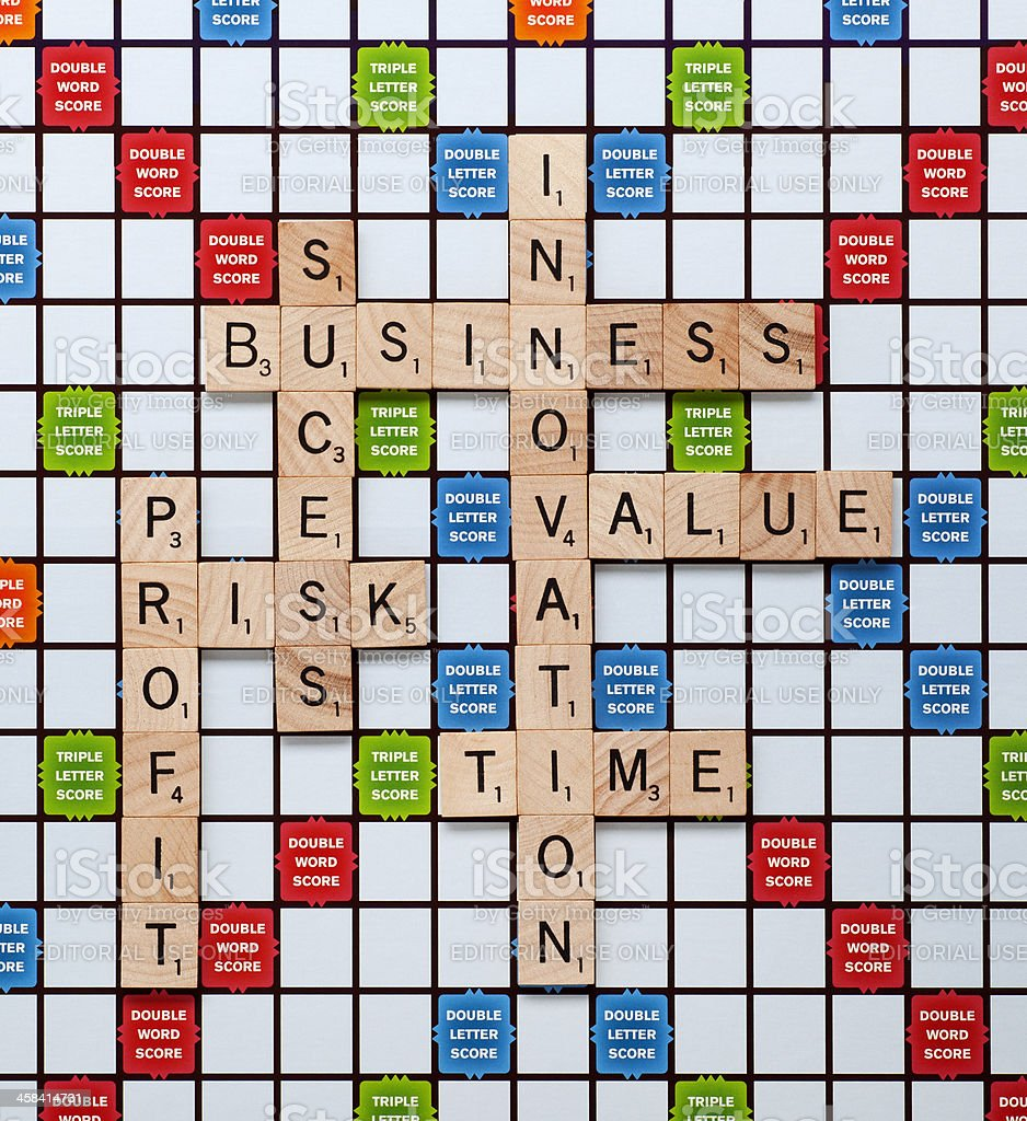 Business Concepts within Scrabble stock photo
