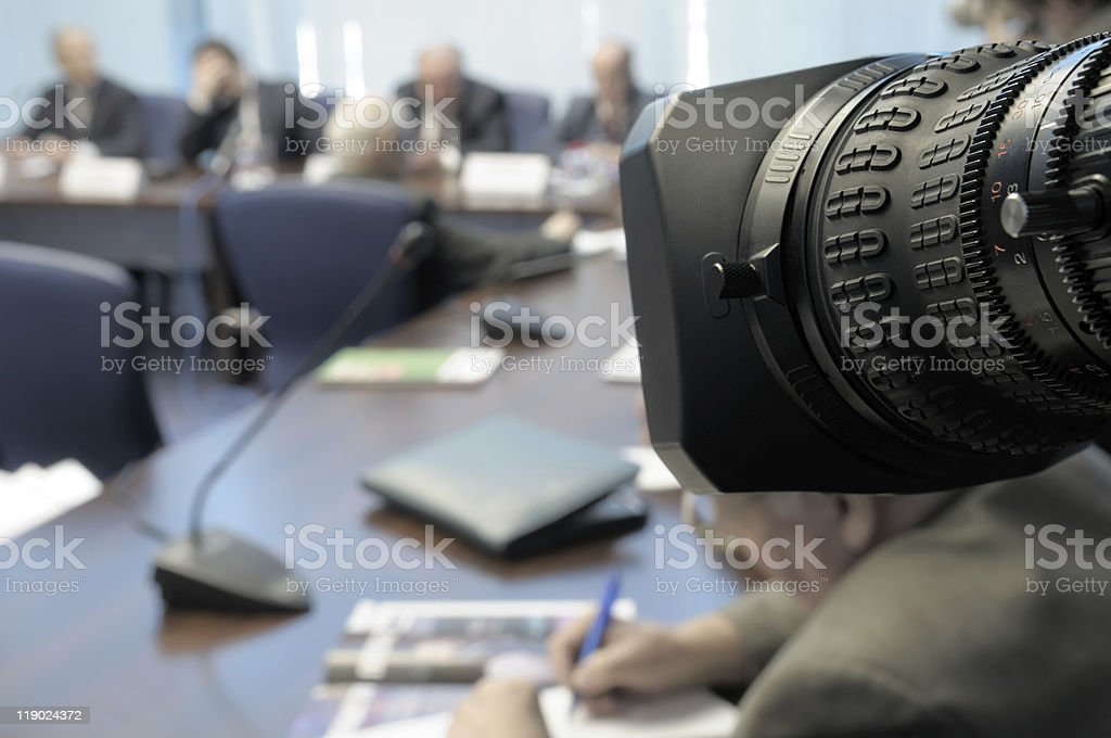 Business conference under the lens. royalty-free stock photo