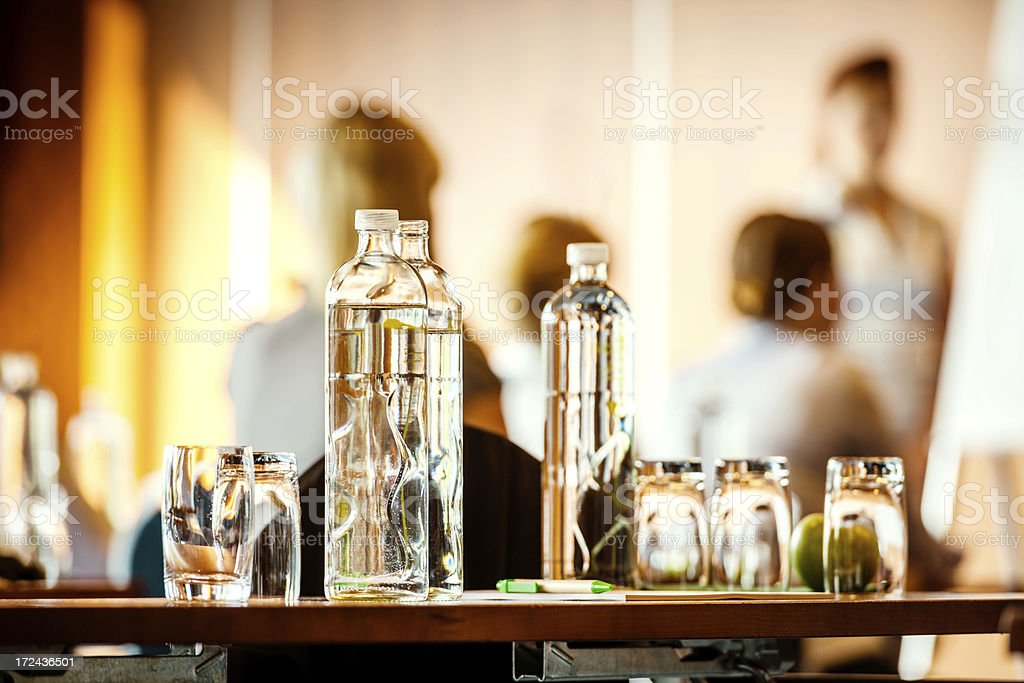 business conference with refreshments royalty-free stock photo