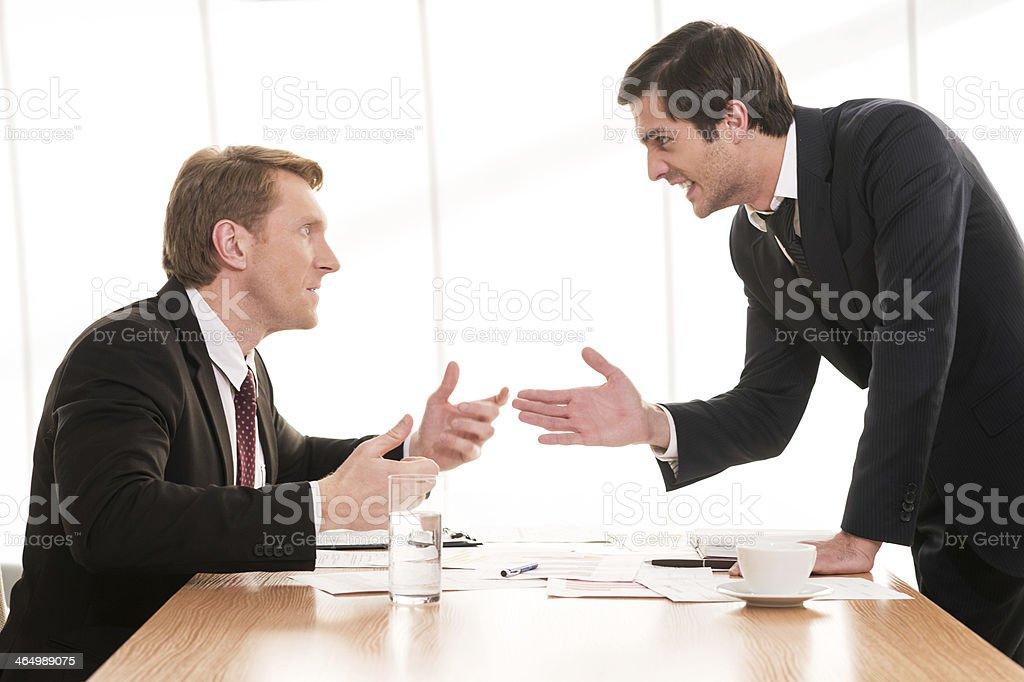 Business conflict. stock photo