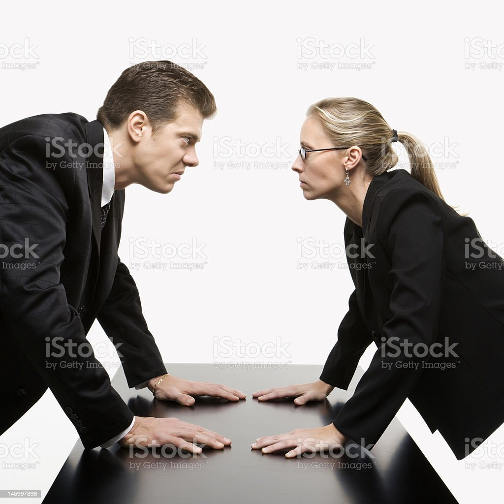 Business confrontation. stock photo