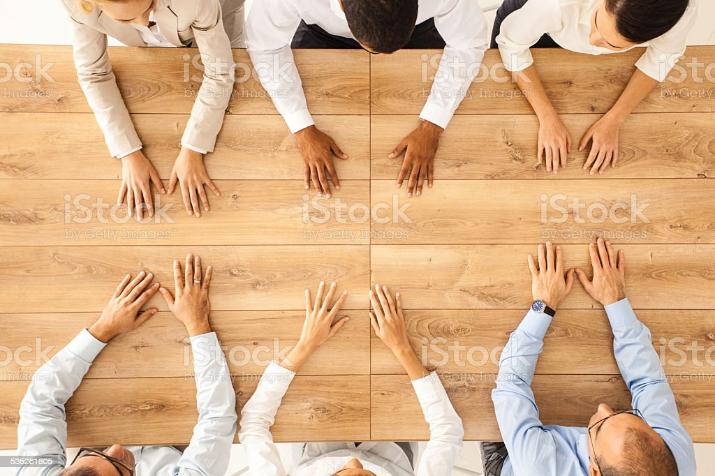 Business confrontation stock photo