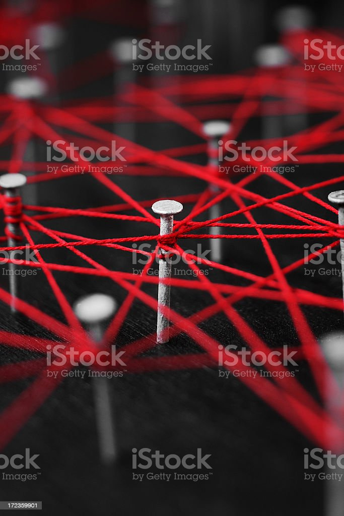 Business Connections Abstract stock photo