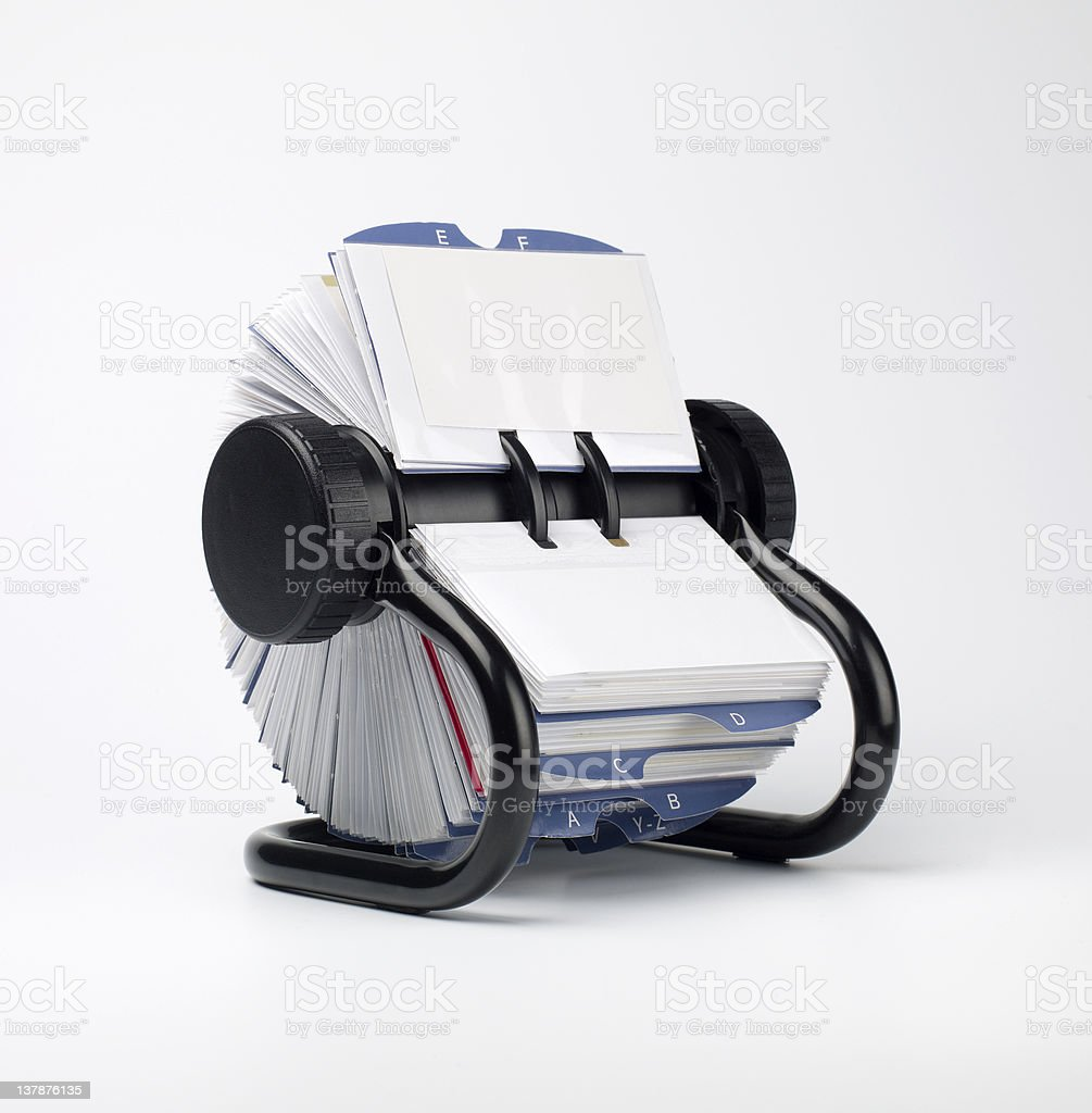 Business contact file stock photo