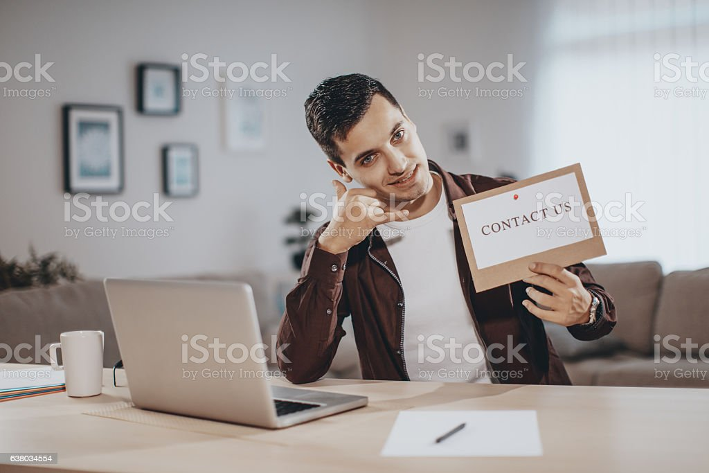 Business - Contact US message stock photo