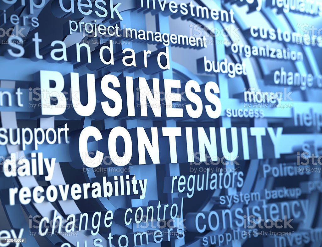 business continuity stock photo