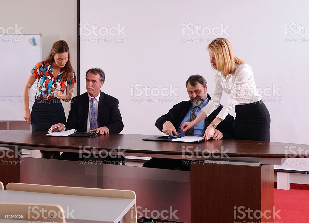 Business contract signing royalty-free stock photo