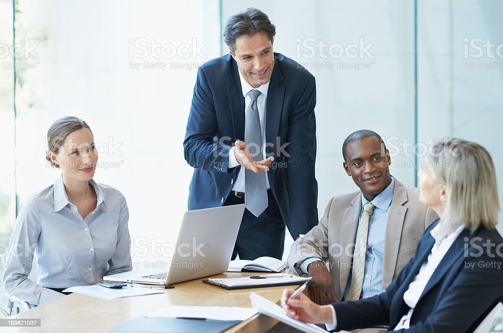 Business conversation royalty-free stock photo