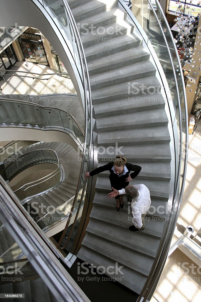Business Conversation Viewed from Above stock photo