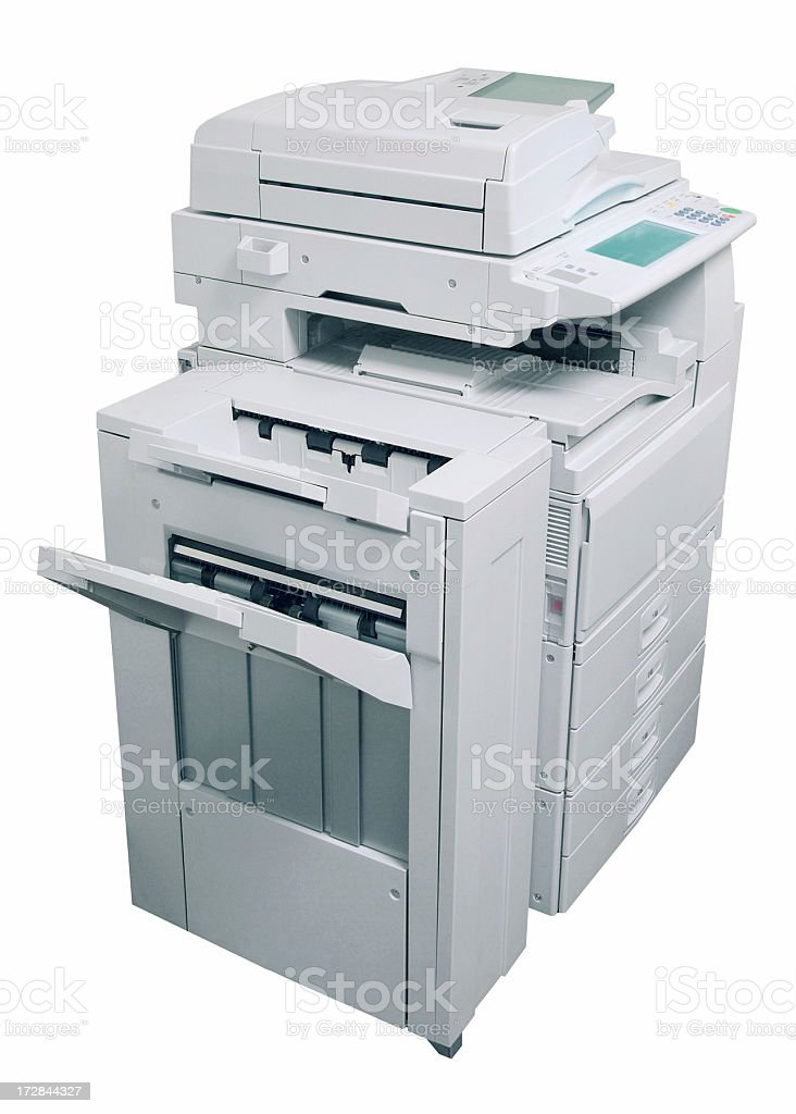 Business Copier and Fax royalty-free stock photo