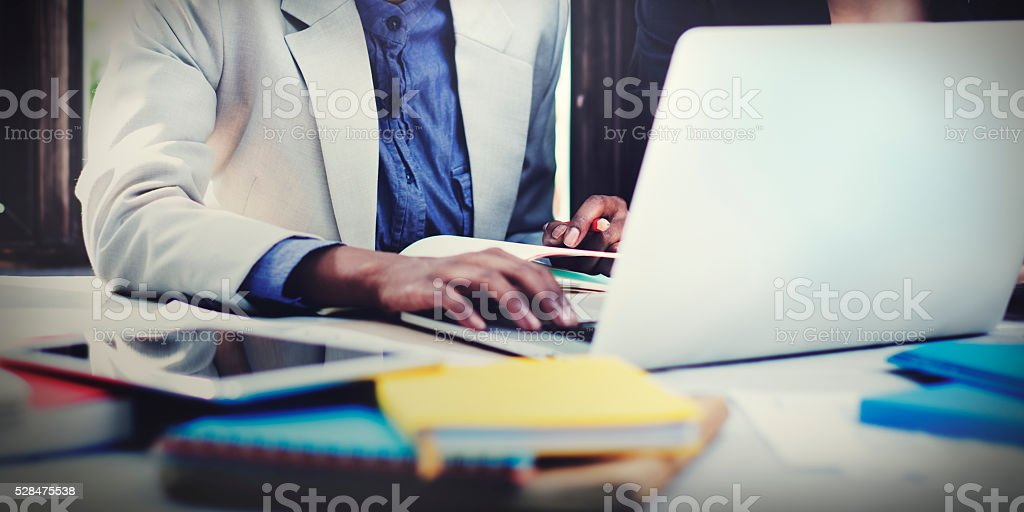 Business Corporate Focusing Workshop Occuapation Concept stock photo