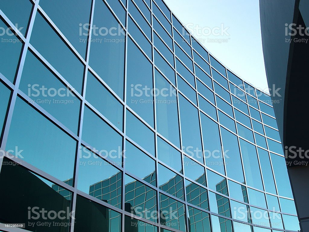 Business Corporate Office Window Reflections royalty-free stock photo
