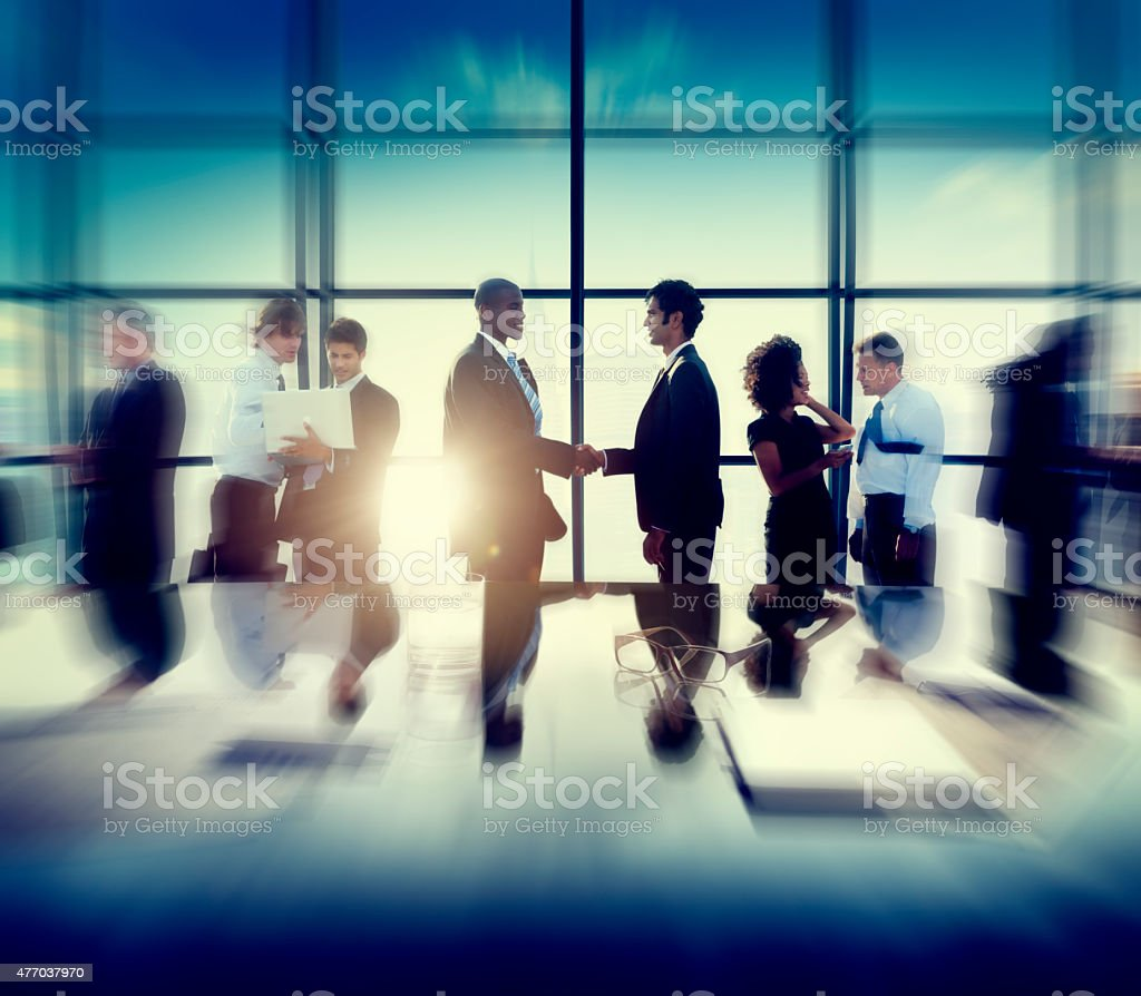 Business Corporate People Partnership Meeting Discussion Concept stock photo