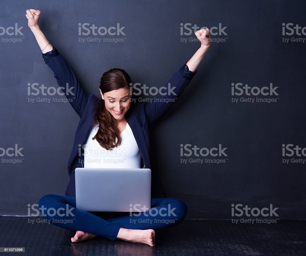 Business couldn't be better stock photo