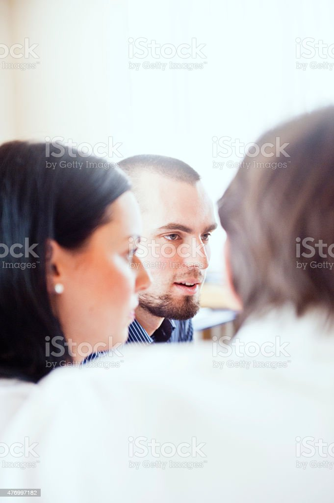 Business counseling in their office stock photo