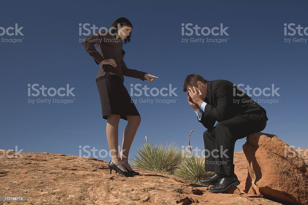 Business Couple in Disagreement royalty-free stock photo
