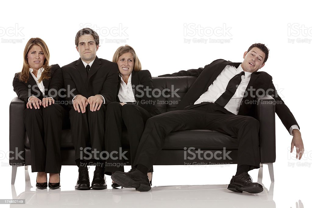 Business creating problem for his colleague royalty-free stock photo