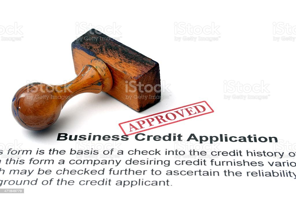 Business credit application royalty-free stock photo