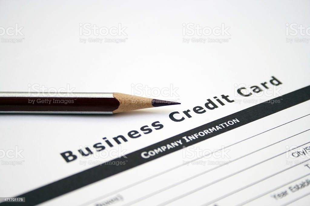 Business credit card application royalty-free stock photo