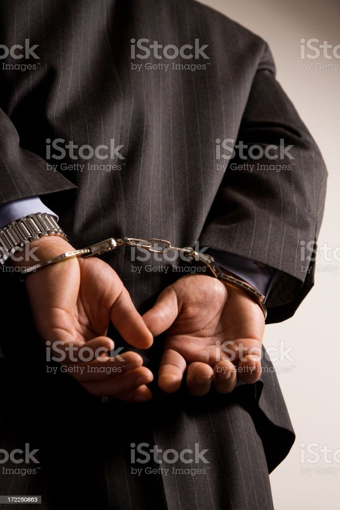 Business crime stock photo
