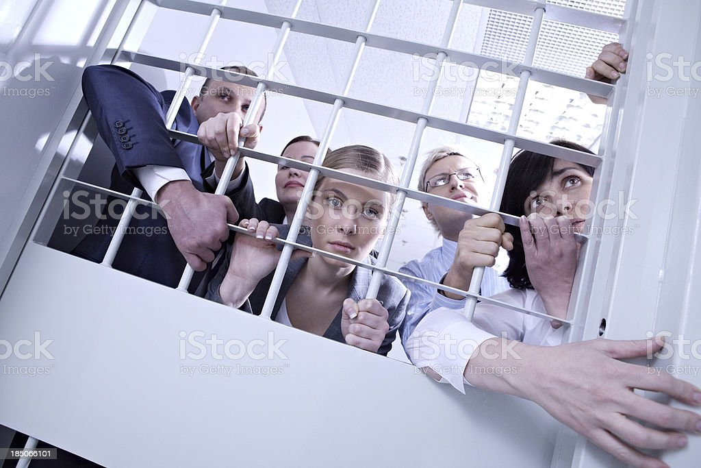 Business criminals royalty-free stock photo