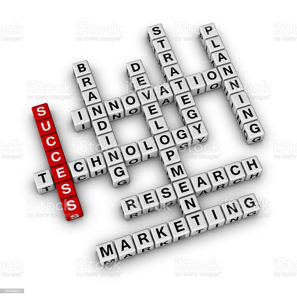 Business crossword royalty-free stock photo