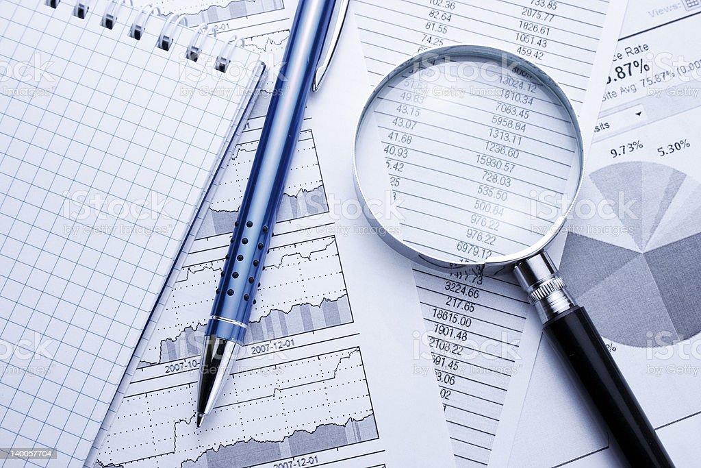 Business Data Analyzing royalty-free stock photo