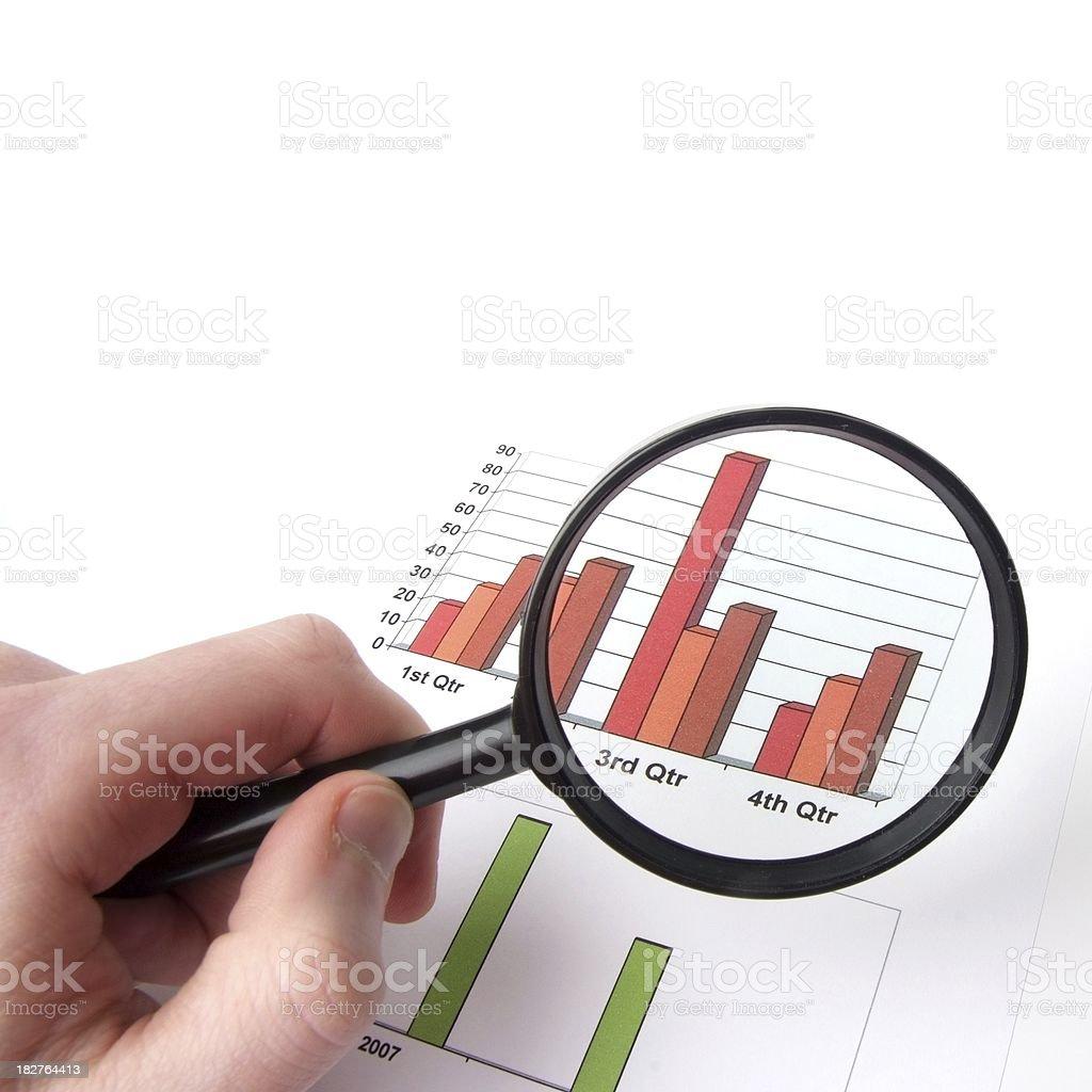 Business data stock photo