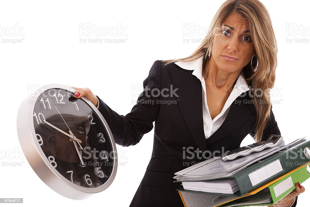 Business deadline stock photo