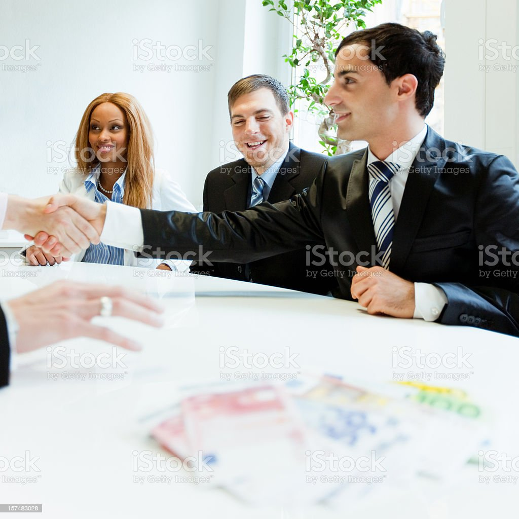Business Deal Closed royalty-free stock photo
