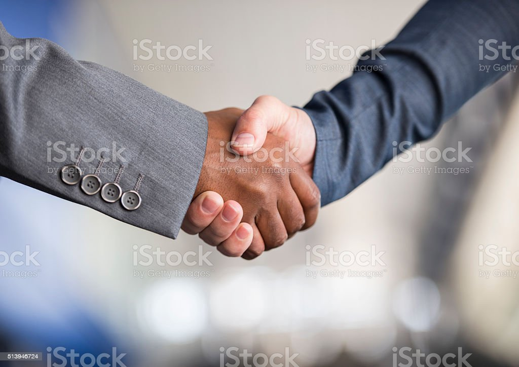 Business deal closing. stock photo